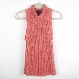 Anthropologie MOTH Chunky Sleeveless Knit Sweater